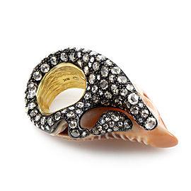 Seashell Multi-Gold & Diamond Ring