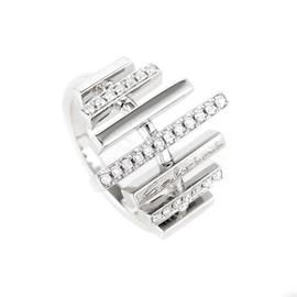 18K White Gold Diamond Band Ring