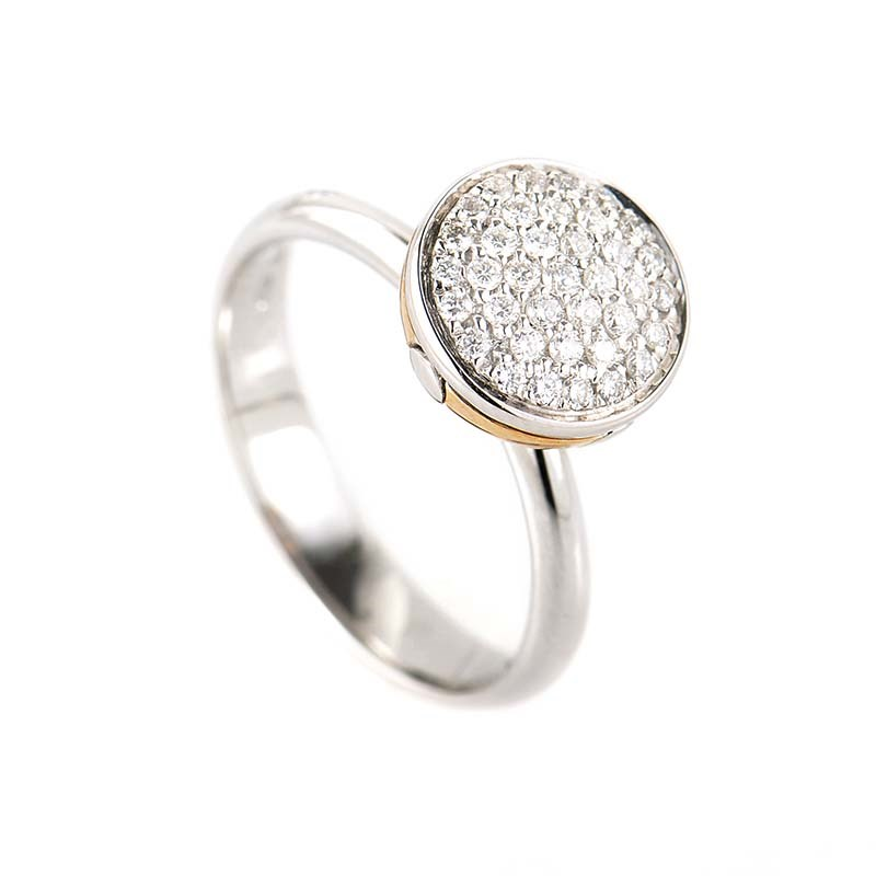 "Image of ""Salvini 18K White & Rose Gold Diamond Ring"""