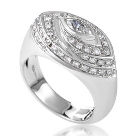 Salvini 18K White Gold Diamond Womens Ring
