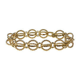 Tiffany & Co. Schlumberger 18K Yellow Gold Circle Rope Bracelet