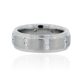 Scott Kay Platinum Diamond Wedding Band