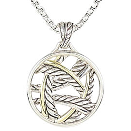 David Yurman Sterling Silver & 18K White Gold Papyrus Pendant