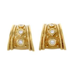 18K Yellow Gold 0.20ct. Diamond Huggie Earrings