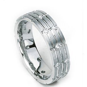 "Image of ""Simon G 14K White Gold 0.61ct. Diamond Band Ring Size 10"""