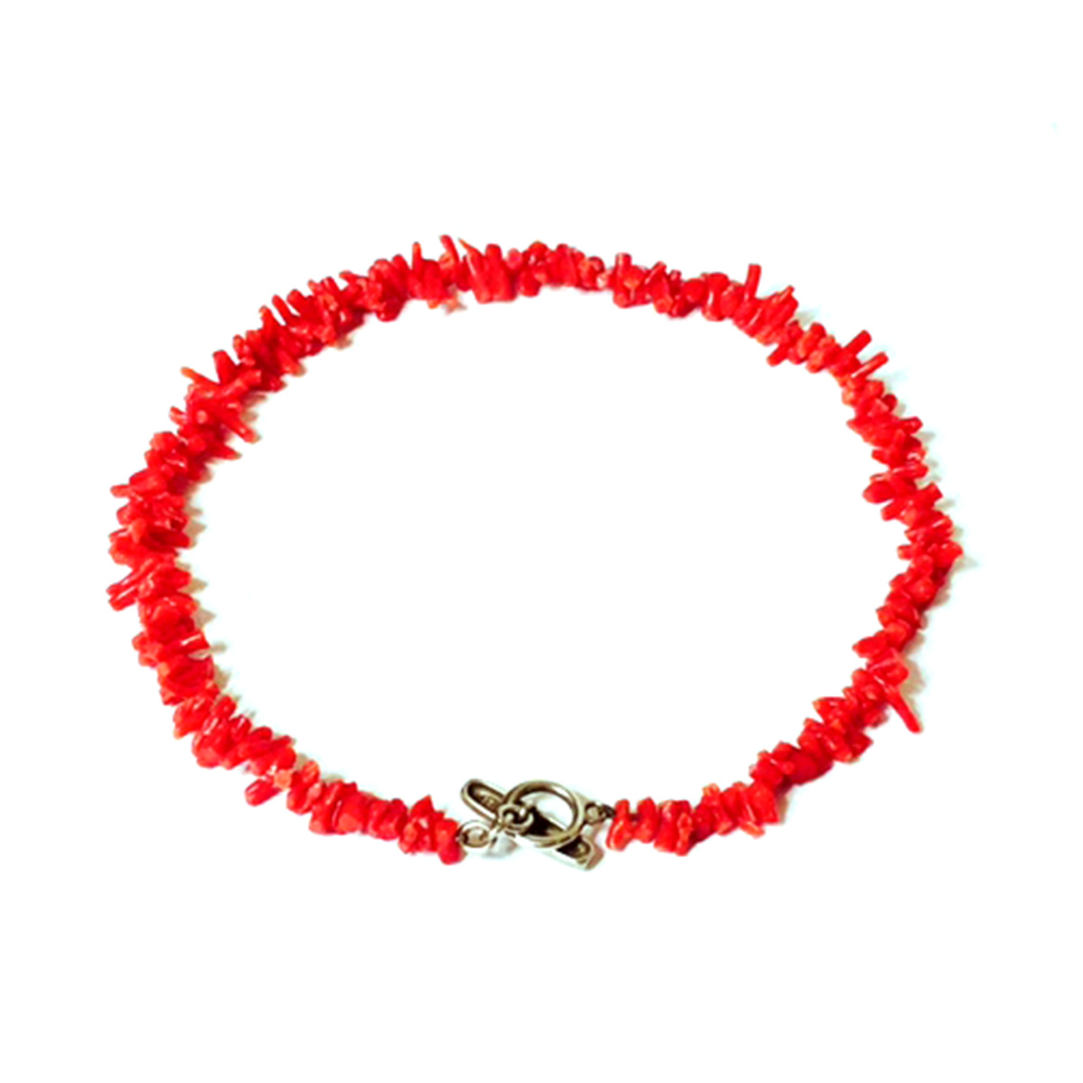 "Image of ""Slane & Slane 925 Sterling Silver Red Branch Coral Necklace"""