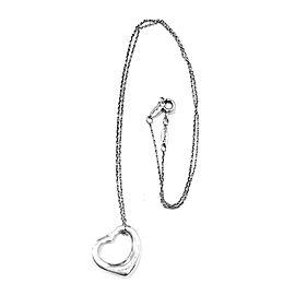 Tiffany & Co. Elsa Peretti Sterling Silver Open Heart Pendant Necklace