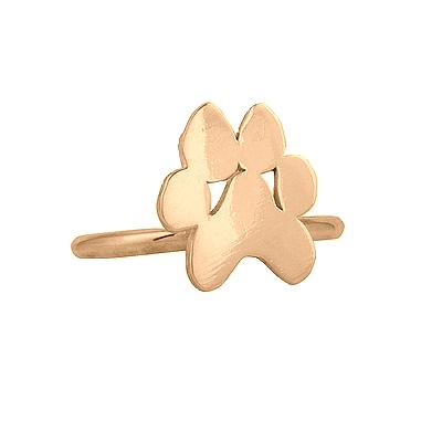 "Image of ""18K Rose Gold Small Paw Ring"""