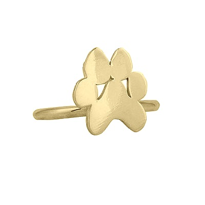 "Image of ""18K Yellow Gold Small Paw Ring"""