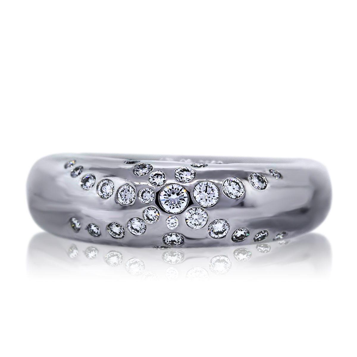 "Image of ""Chaumet 18K White Gold 0.65ct Diamond Ring Size 6.5"""