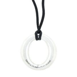 Tiffany & Co. Silver Elsa Peretti Sevillana Charm Necklace with Silk Cord