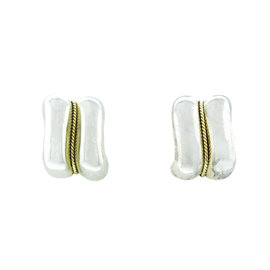 Tiffany & Co. Sterling Silver and Gold Rope Wave Earrings