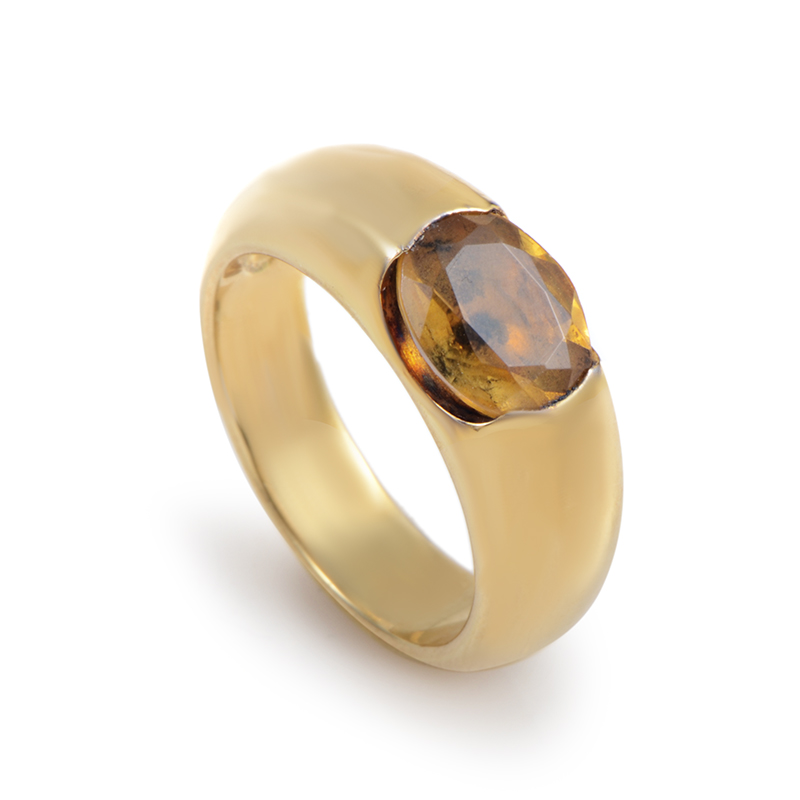 "Image of ""Suarez 18K Yellow Gold Citrine Ring"""