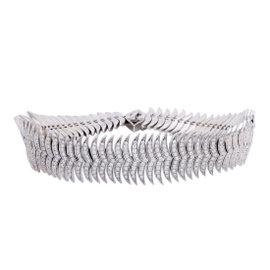 Stephen Webster Womens 18K White Gold Full Diamond Pave Bracelet