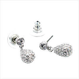 Swarovski Palladium Heloise Teardrop Earrings
