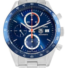 Tag Heuer CV2015 Carrera 40th Anniversary Legend Blue Dial Stainless Steel 41mm Mens Watch