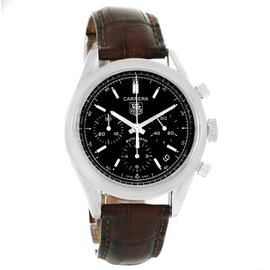 Tag Heuer Carrera CV2111.fc6182 Stainless Steel & Black Dial Automatic 39mm Mens Watch