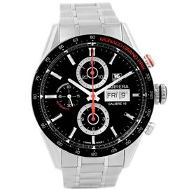 Tag Heuer Carrera Monaco CV2A1F Stainless Steel Black Dial Automatic 43mm Mens Watch