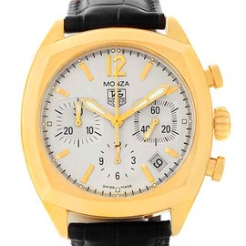 Tag Heuer Monza CR514A 18K Yellow Gold Automatic 38mm Mens Watch
