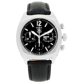 Tag Heuer Monza CR2113.FC6164 Stainless Steel with Black Dial 37mm Automatic Mens Watch