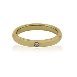 Tiffany & Co. Elsa Peretti 18K Yellow Gold Diamond Ring