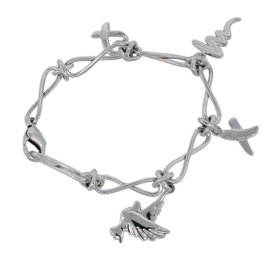 Tiffany & Co. Sterling Silver Picasso Charm Bracelet