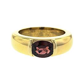 Chaumet 18k Yellow Gold Garnet Ring