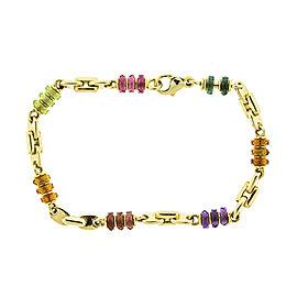 18k Yellow Gold Bvlgari Colored Stone Bracelet