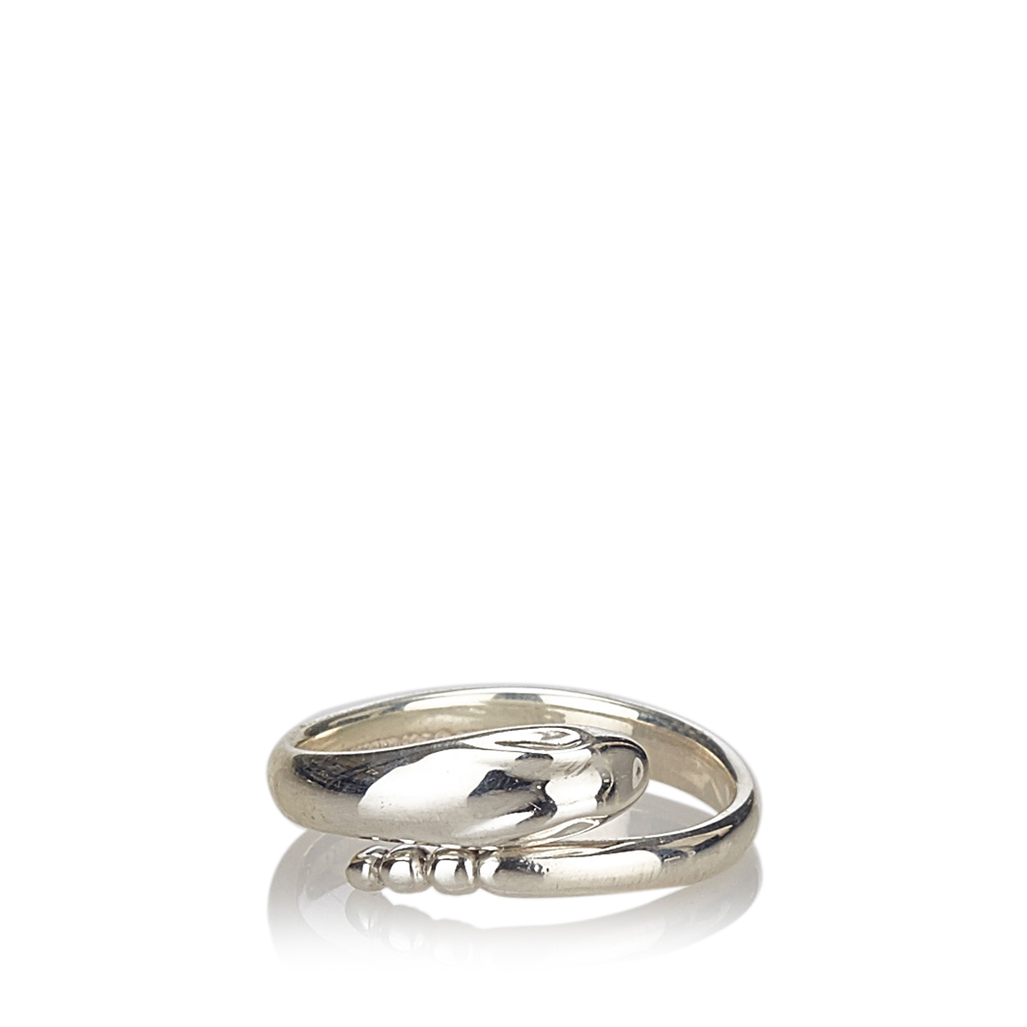 "Image of ""Tiffany & Co. Sterling Silver Snake Ring Size 4.5"""
