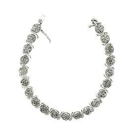 Diamond and Sterling Silver S Link Bracelet