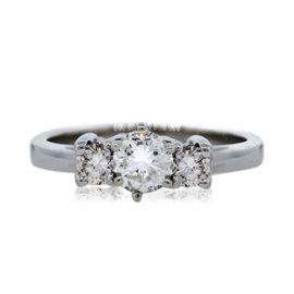 Platinum 0.88ctw Diamond Engagement Ring Size 6