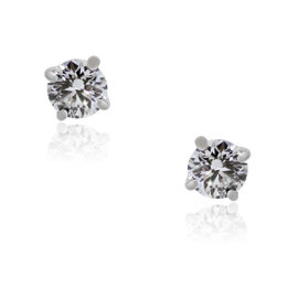 Tiffany & Co. 14K White Gold & 1.16ctw Diamond Stud Earrings