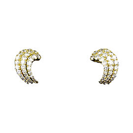 Tiffany & Co. 18K Yellow Gold and Diamond Earrings