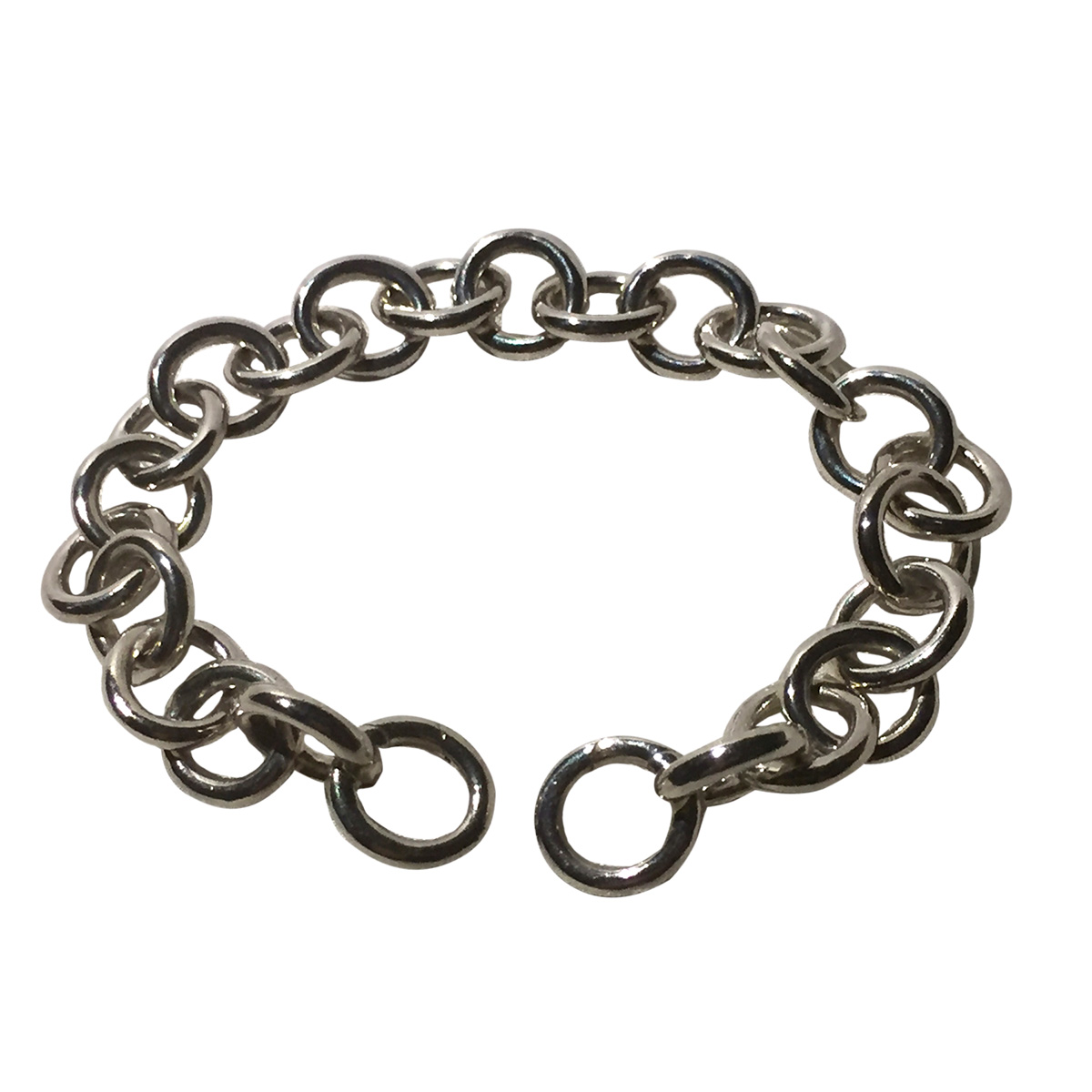 """Image of """"Tiffany & Co. 925 Sterling Silver Round Clasping End Links Bracelet"""""""