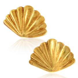 Tiffany & Co. 18K Yellow Gold Fan Stud Earrings