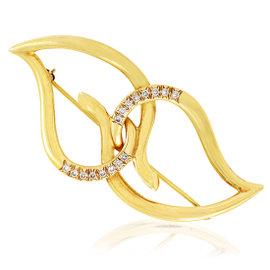 Tiffany & Co. 18K Yellow Gold & Diamond Interlocking Leaves Brooch