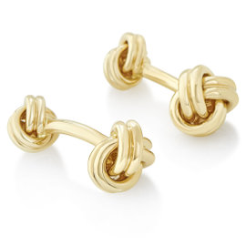 Tiffany & Co. 18K Yellow Gold Knotted Cufflinks