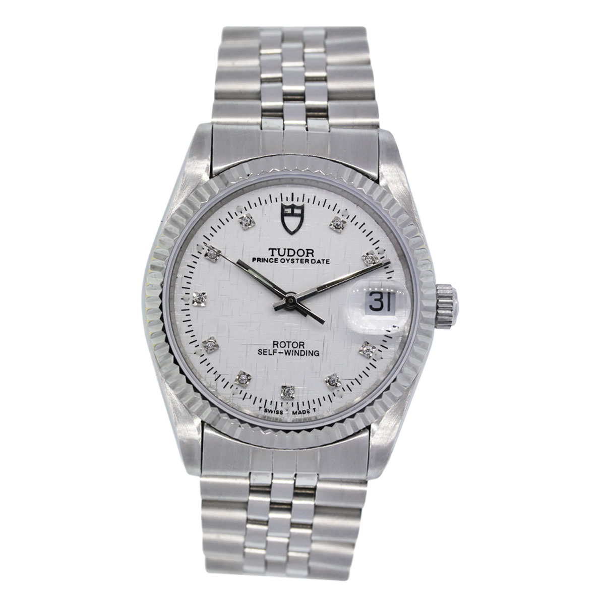 "Image of ""Tudor 74000 Oyster Prince Date Stainless Steel 34mm Unisex Watch"""