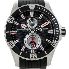 Ulysse Nardin Maxi Marine Diver 263-10-3-92 Black Dial Stainless Steel / Rubber 44mm Mens Watch