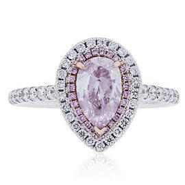 18K White Gold 1.45ct Pink Diamond Engagement Ring Size 6.5