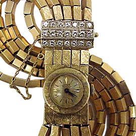 Girard Perregaux 18K Yellow Gold & Diamond 16mm Womens Watch