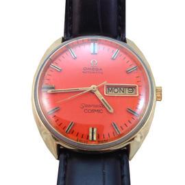 Omega Seamaster Cosmic 35mm Orange Dial Stainless Steel Watch