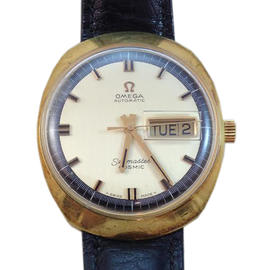 Omega Seamaster Cosmic 35mm 14K Gold Plated Watch