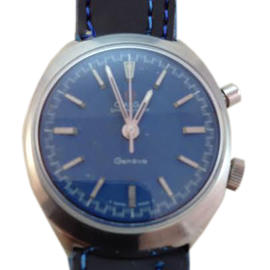 Omega Chronostop Geneve 145.009 35mm Blue Dial Watch