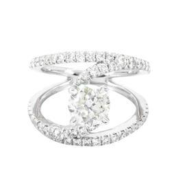 Gabriel & Co.14K White Gold Designer 1.75CTW Diamond Ring