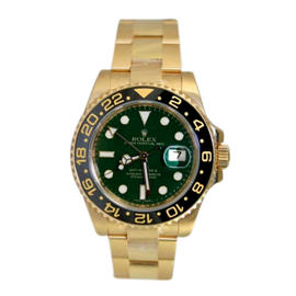Rolex GMT Master II 116718 Ceramic Bezel and Green Dial Anniversary Edition Watch