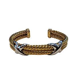 David Yurman 18K Yellow Gold & White Gold Bracelet
