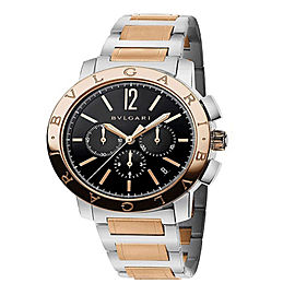 Bulgari Bulgari Steel Pink Gold Chronograph 41mm Mens Watch BB41BSPGDCH