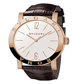 Bulgari Bulgari 18K Pink Gold Silver 39mm Mens Watch BBP39WGL/ROMA
