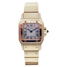 Cartier Santos Boca Raton 18K Yellow Gold Womens Watch